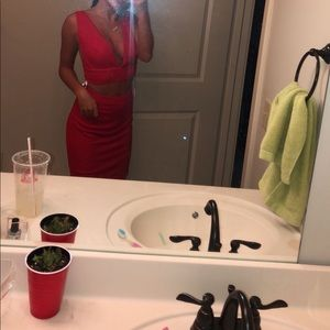 Jovani Dresses - Red sparkly homecoming dress, worn once
